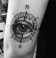 #compass #eye #tattoo