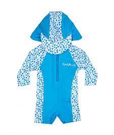 Rashoodz Baby   Toddler Swimsuit (Rash Suit with Long sleeves and Hat) -  Triangle Traffic - Size 3 53d1db875235