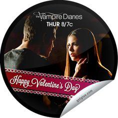 Steffie Doll's The Vampire Diaries: Stefan and Elena Sticker | GetGlue