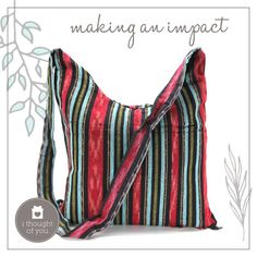 We'd like you to meet our Kuri Messenger Bag, a zippered purse made from traditional fabrics. This pretty practical piece is handmade by our artisans and creates job opportunities with each purchase.
