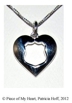 "Whether you're a wife, mother, daughter, grandmother, or girlfriend, when you love a police officer it takes courage and sacrifice. You can wear this necklace proudly as a symbol of your sacrificial love and to remind the Officer you love that ""Wherever you are, you will always have a Piece of My..."