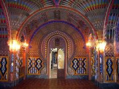 Castello di Sammezzano, outside Florence Italy...this site was refurbished in the 1800's in an Islamic style meets Gaudy (not Gaudí) ;-) Beautiful!