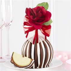 Triple Chocolate Red Rose Jumbo Caramel Apple Gift | Mrs. Prindable's Valentine's Day Collection 2015