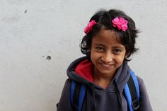 Restore Nepal. One of our adorable girls from the orphanage. So thankful for this smile.