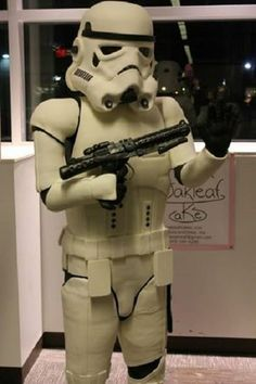 This storm trooper cake is amazing. Would you know where to start to create a life size creation like this?