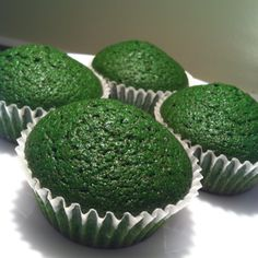 Green velvet cupcakes a.k.a Incredible Hulk cupcakes for ryans #5. purple liners though!