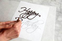 Escribir con chocolate sobre impresion