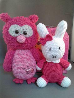 Uil Anna gehaakt door Rina Brand #haken #haakpatroon #gehaakt #amigurumi #knuffel #gehaakt #crochet #häkeln #cutedutch