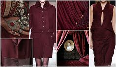 Fall/Winter 15/16 A brown-cast alternative to maroon, burgundy becomes one of the most popular reds of the season.
