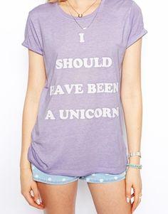 Image 3 ofASOS T-Shirt in Burnout with Unicorn Print