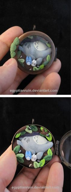 Totoro Shadow Box Locket by *egyptianruin on deviantART