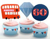 Diamond Jubilee Cupcake wrappers and toppers PDF