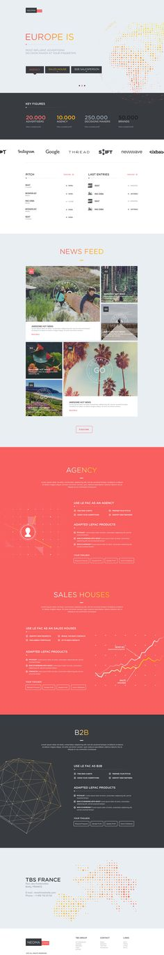 #boxed #layout #webdesign with strong harmonious colorscheme makes a viewing pleasure