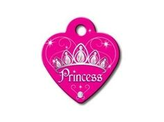 DIVA Princess Collection Heart Shape Personalized Custom Engraved Pet ID Tags- FREE SHIPPING! *** Discover this special dog product, click the image : Dog tags for pets