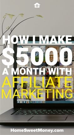 In one month I made $5,000 through affiliate marketing. What is affiliate marketing and how do you make money with affiliate marketing? In this post I'll explain.