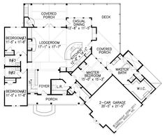 ARCHITECTURE, Small Cottage House Plans: Hot Springs Cottage 2184 House Plans By Garrell Associates Inc