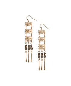 Love this Goldtone Geometric Drop Earrings on #zulily! #zulilyfinds