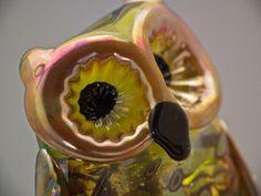 Ava lampwork owl bead sra by DeniseAnnette on Etsy, $27.00