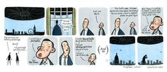 David Cameron & Michael Gove deal with an alien invasion. By Stephen Collins History Classroom, Teaching History, Political Comics, Stephen Collins, Comic Page, Inspirational Message, Comic Strips