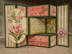 Mother's Day handmade greeting card tri shutter by Praisefolds, $9.25