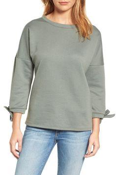 Tie Sleeve Sweatshirt (Regular