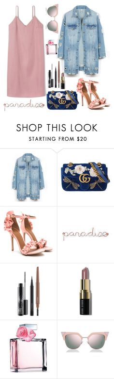"""Untitled #104"" by danistia ❤ liked on Polyvore featuring LE3NO, Gucci, Umbra, MAC Cosmetics, Bobbi Brown Cosmetics, Ralph Lauren and Fendi"