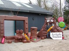 Props for Charlie And The Chocolate Factory themed rides at Alton Towers