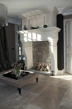 Kasteelschouw en kalksteen dallen