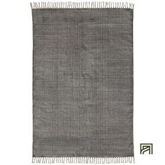 alinea :  fez tapis à frange en coton gris 120x170cm     - #Alinea #Décoration #Deco #Tapis