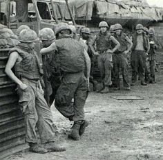 "The Bitter End - October 9, 1971 - Members of the U.S. 1st Air Cavalry Division refuse an assignment to go out on patrol by expressing ""a desire not to go."" This is one in a series of American ground troops engaging in ""combat refusal."""