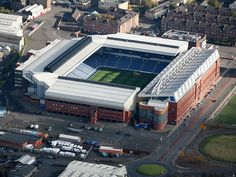 Ibrox Stadiumn is a football stadium located on the south side of the River Clyde and the third largest football stadium in Scotland, having an all-seated capacity of 50,987.  Ibrox is best known for being the home ground of Glasgow Rangers Football Club.