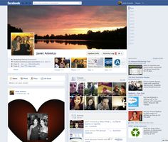 Facebook screenshot 2012