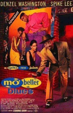 Mo' Better Blues Movie Poster 27 X 40 Denzel Washington Spike Lee C Licensed Denzel Washington, Mo' Better Blues, Thomas Blackshear, Annie Lee, John Turturro, Frank Morrison, Blue Poster, Black Love Art, Spike Lee
