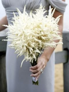 White astilbe is a stunning feathery flower that is great for creating an ethereal look.