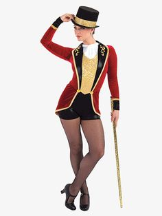 "Womens- Womens A Wish Come True Womens ""The Greatest Showman"" Character Dance Shorty Unitard - The Greatest Showman, Carnival Costumes, Dance Costumes, Halloween Costumes For Kids, Costumes For Women, Ringmaster Costume, Metallic Shorts, Halloween Disfraces, Cosplay"