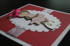 Handmade 3D Teddy Bear Ballerina Red Birthday Card by Pixicutcom
