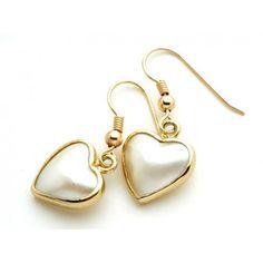 9ct Heart Mabe Earring. gerrim.com