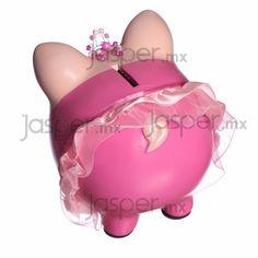 Alcancía cerdito de cerámica Bailarina - Kuadritos Pig Bank, Mini Pig, Cute Piggies, Pig Party, Peppa Pig, Baby Shower, Pink, Funny, Christmas