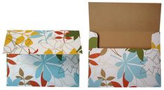 Make envelopes out of patterned paper. Has template available for download if you don't want to make your own.