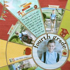 This scrapbook page looks pretty complicated to do! It looks awesome though.