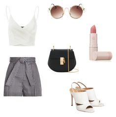 """""""B&W"""" by oblomova1 on Polyvore featuring Zimmermann, Doublju, Chloé and Lipstick Queen"""