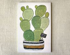 cactus weekly to do list notepad | Wit & Whistle