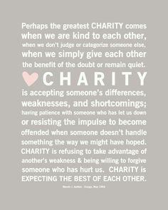 Charity...
