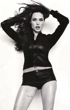 "Angelina Jolie inner thigh tattoo   ""Whiskey Bravo""  like the placement"