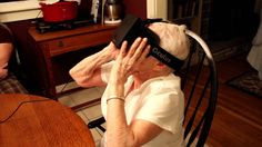 My 90 year old grandmother tries the Oculus Rif #vr #virtualreality #oculus #oculusrift #gearvr #htcvivve #projektmorpheus #cardboard #video #videos