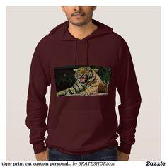 tiger print cat custom personalize Anniversaries Sweatshirt
