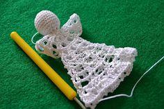 U Kathryn : Szydełkowy anioł (wzór)/Crochet angel (pattern) Crochet Angel Pattern, Crochet Patterns, Diy And Crafts, Christmas Crafts, Christmas Decorations, Easter Crochet, Chrochet, Snowflakes, Crochet Earrings