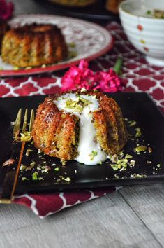 Pistachio Cake with Mohallabieh Cream | Savory and Sweet Food