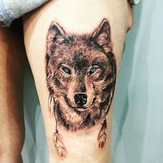 wolf tattoo © KlaraStacovaTattoo