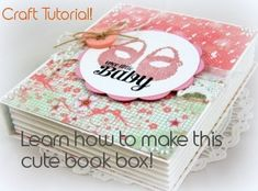 Gorgeous book box tutorial - really easy to follow instructions
